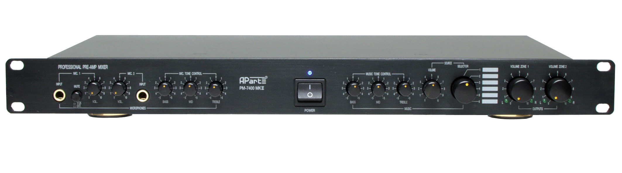 Apart Pm7400mkii Microphone Pre Amplifier With Tone Control